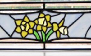 Home Flower Stained glass